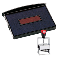 This 2 color Cosco replacement pad comes in your choice of 11 ink colors! Fits the Cosco model 3660 self-inking stamp. Orders over $45 ship free!