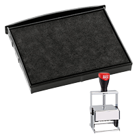 This Cosco replacement pad comes in your choice of 11 ink colors! Fits the Cosco model 3860 self-inking stamp. Orders over $45 ship free!