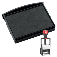 This Cosco replacement pad comes in your choice of 11 ink colors! Fits Cosco models 2160, 2360, and GL2300 self-inking stamps. Orders over $45 ship free!