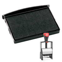 This Cosco replacement pad comes in your choice of 11 ink colors! Fits Cosco models 2460, GL-2600, and 2660 self-inking stamps. Orders over $45 ship free!