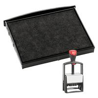 This 2 color Cosco replacement pad comes in your choice of 11 ink colors! Fits the Cosco model 2860 self-inking stamp. Orders over $45 ship free!