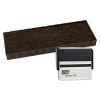 This Cosco replacement pad comes in your choice of 11 ink colors! Fits the Cosco model 45 self-inking stamp. Orders over $45 ship free!