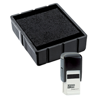 This Cosco replacement pad comes in your choice of 11 ink colors! Fits the Cosco model Q17 self-inking stamp. Orders over $45 ship free!