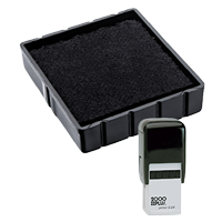 This Cosco replacement pad comes in your choice of 11 ink colors! Fits the Cosco model Q24 self-inking stamp. Orders over $45 ship free!