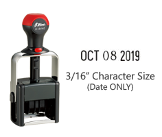 "Stock date only 3/16"" character height stamp with 12 years included available in 11 ink colors! Great for high volume stamping. Ships free in 1-2 business days!"