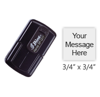 "Customize this 3/4"" square stamp with 4 lines of text or artwork in a choice of 11 ink colors! Perfect for stamping inspections. Ships free in 1-2 business days!"
