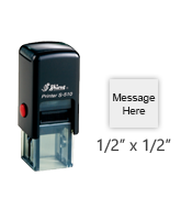 """Personalize this 1/2"""" square stamp with 2 lines of text or your artwork in a choice of 11 ink colors! Great for approval stamps. Ships free in 1-2 business days!"""