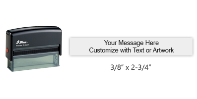 """Customize this 3/8"""" x 2-3/4"""" stamp with 2 lines of text or artwork in a choice of 11 ink colors! Great for signatures or emails. Ships free in 1-2 business days!"""