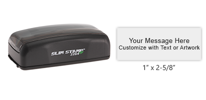 Personalize this Slim pre-inked pocket stamp with 5 lines of text or logo in a choice of 5 ink colors. Great for on the go use. Orders over $45 ship free!