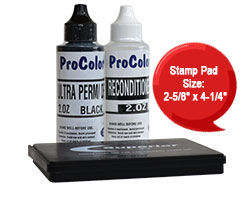 Permanent, acid free, water/fade resistant and fast drying on almost any surface. This kit is used w/ traditional rubber stamps. Orders ship free over $45.