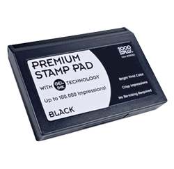 Cosco 1 Gel Stamp Pad In Black Rubber Stamp Champ