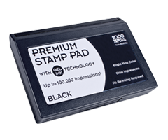 "This 2-3/4"" x 4-1/4"" premium gel stamp pad comes in black and lasts for up to 100,000 quality impressions. No re-inking required. Orders over $10 ship free!"