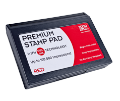 "This 2-3/4"" x 4-1/4"" premium gel stamp pad comes in red and lasts for up to 100,000 quality impressions. No re-inking required. Orders over $10 ship free!"