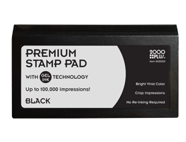 "This 2-3/4"" x 5-3/4"" premium gel stamp pad comes in black and lasts for up to 100,000 quality impressions. No re-inking required. Orders over $10 ship free!"