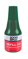 This .9 oz bottle of green refill ink is used in all Cosco self-inking stamps. With a precision tip, application is easy & mess free. Orders over $10 ship free!