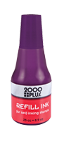 This .9 oz bottle of violet refill ink is used in all Cosco self-inking stamps. With a precision tip, application is easy & mess free. Orders over $10 ship free!