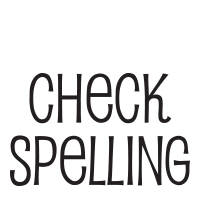 Check spelling self-inking rubber stamp available in a choice 3 sizes and 11 different ink colors. Refillable with Ideal ink. Free shipping on orders over $25.