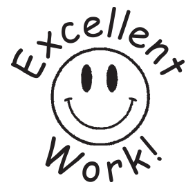 Excellent Work Smiley Face Teacher Stamp Rubber Stamp Champ