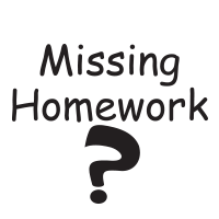 Missing Homework? round self-inking rubber stamp available in 4 sizes and 11 ink color options. Refillable with Ideal ink. Free shipping on orders over $45.
