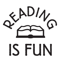 Reading is fun round self-inking rubber stamp available in your choice of 4 sizes and 11 ink colors. Refillable with Ideal ink. Free shipping on orders over $45.