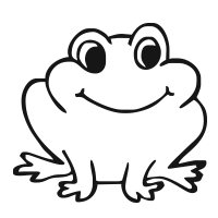 Frog self-inking rubber stamp available in your choice of 4 different sizes and 11 ink colors. Refillable with Ideal ink. Online orders over $25 ship free.