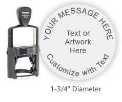 Trodat® Heavy Duty Self-Inking Rubber Stamps. Customize with text and/or logo. Secure online ordering. Free shipping. Knockout prices from RubberStampChamp.com.