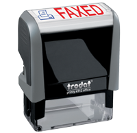 This Trodat 4912 self-inking Faxed message stamp comes in a two-color, red/blue, option and delivers a crisp impression each time. Perfect for office use!