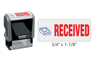 This Trodat 4912 self-inking Received message stamp comes in a two-color, red/blue, option and delivers a crisp impression each time. Perfect for office use!