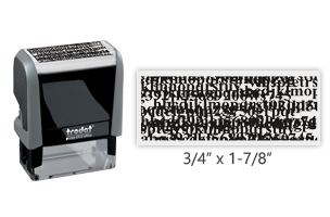 This Trodat 4912 self-inking Security stamp comes in black ink and provides security in blocking personal information from documents. Orders over $45 ship free!