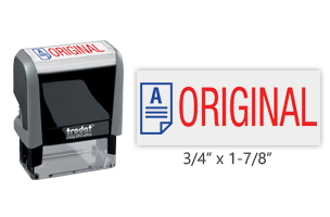 This Trodat 4912 self-inking Original message stamp comes in a two-color, red/blue, option and delivers a crisp impression each time. Perfect for office use!