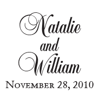With a choice of 11 vibrant ink colors and an elegant script font, add your wedding names & date for a lovely stamp! Shop now and get free shipping over $45.