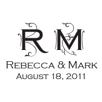Enter your wedding initials, names, and date into this ornate vine-work stamp and choose one of 11 ink colors! Shop now and get free shipping over $45.