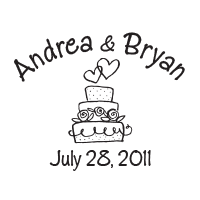Border this adorable wedding cake design with your wedding names and date in your choice of 11 ink colors! Shop now and get free shipping over $15.