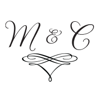 Add your wedding initials in a lovely script font to this monogram stamp in your choice of 11 ink colors! Shop now and get free shipping over $15.