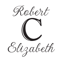 This wedding stamp can be customized with your names bordering your surname initial in your choice of 11 ink colors! Shop now and get free shipping over $45.