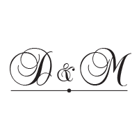 Underline your script font wedding initials with a decorative line on this stamp in your choice of 11 ink colors! Shop now and get free shipping over $15.