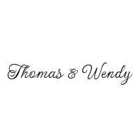 Elegantly stamp your wedding names in a thin script font and in your choice of 11 stunning ink colors! Shop now and get free shipping over $45.