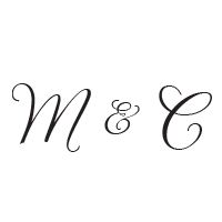 Stamp your wedding initials in a lovely thin script style with this stamp and choose from 11 stunning ink colors! Shop now and get free shipping over $45.