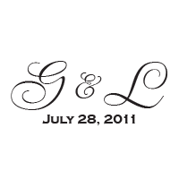 Enter your wedding initials and date to personalize this stamp and choose from 11 stunning ink colors! Shop now and get free shipping over $45.