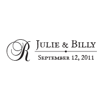 This wedding stamp has options to customize your wedding names, initial, and date on this stamp and choose from 11 ink colors! Orders over $45 ship free.