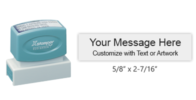 "Customize this premium quality 5/8"" x 2-7/16"" stamp with up to 3 lines of text or artwork in your choice of 11 exciting ink colors. Ships free in 2-3 business days."