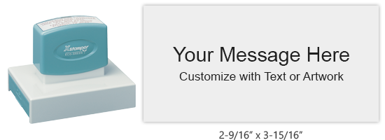 """Customize this premium 2-9/16"""" x 3-15/16"""" stamp with up to 15 lines of text or artwork in your choice of 11 vibrant ink colors. Ships in 4-5 business days."""