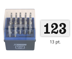 A convenient and adaptable marking solution. Simply connect pieces vertically or horizontally to create a numeric message. Great for hard to reach locations.