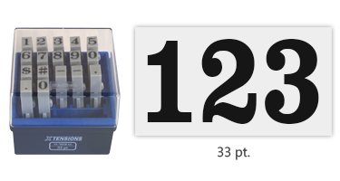 A convenient and adaptable marking solution that includes 17 connectable pieces to create a custom numeric message or sequence. Ships free in 1-2 business days.
