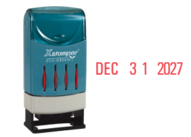 This Xstamper Versadater Line Dater prints month, day, year and also FAX'D, PAID, or REC'D. Available in your choice of red, blue or black ink. Refillable.