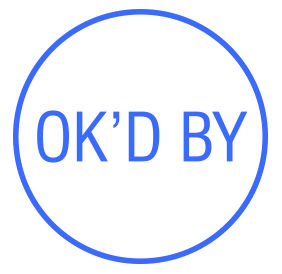 "OK'D pre-inked rubber stamp available in blue ink with an impression size of 5/8"" in diameter. Get free shipping on online orders over $15."