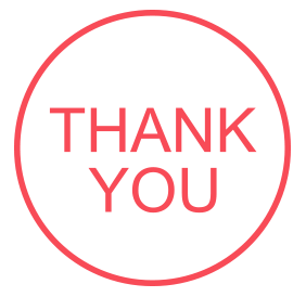"Thank You pre-inked rubber stamp available in red ink with an impression size of 5/8"" in diameter. Get free shipping on online orders over $25."