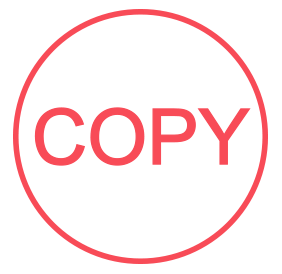 "Copy pre-inked rubber stamp available in red ink with an impression size of 5/8"" in diameter. Get free shipping on online orders over $15."