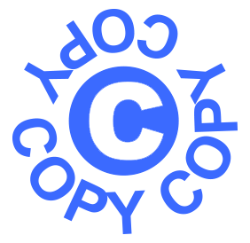 "Circular Copy pre-inked rubber stamp available in blue ink with an impression size of 5/8"" in diameter. Get free shipping on online orders over $25."
