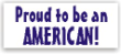 PATRIOTIC-STYLE12 - Proud to be an American Stamp, Small, Style 12